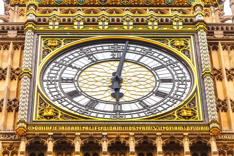 Big Ben in Westminster, Londen Engeland het UK stock afbeelding