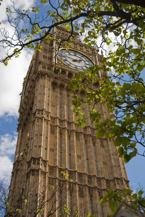 Big Ben z chmurami obraz stock