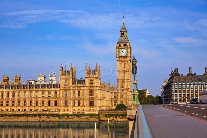 Big Ben Zegarowy wierza w Londyńskim Anglia obrazy stock