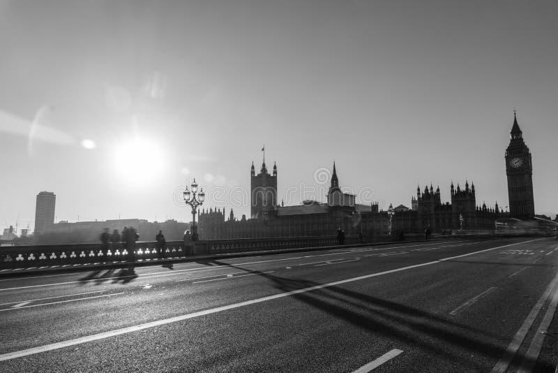 Big Ben in Zwart-wit stock afbeelding