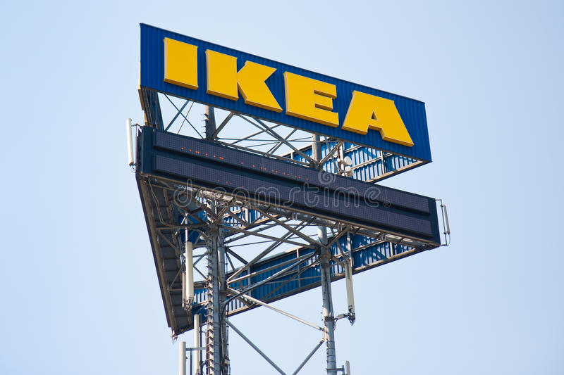 A big billboard of IKEA. UTRECHT, THE NETHERLANDS - JUN 28: A big billboard of IKEA near a highway on June 28, 2011 near the city Utrecht in the Netherlands royalty free stock photography