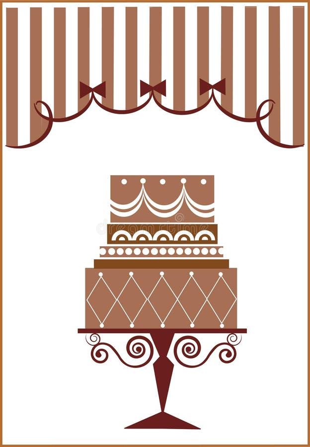 Big birthday cake and party. Illustration vector illustration