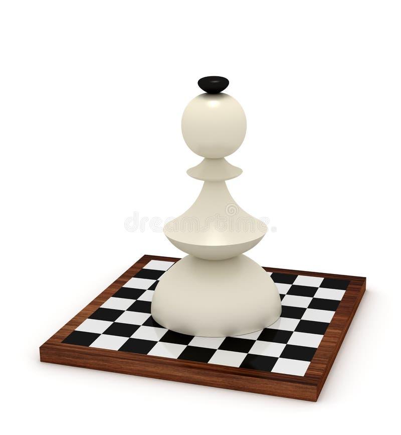 Download Big bishop on chessboard stock illustration. Illustration of competition - 33982988