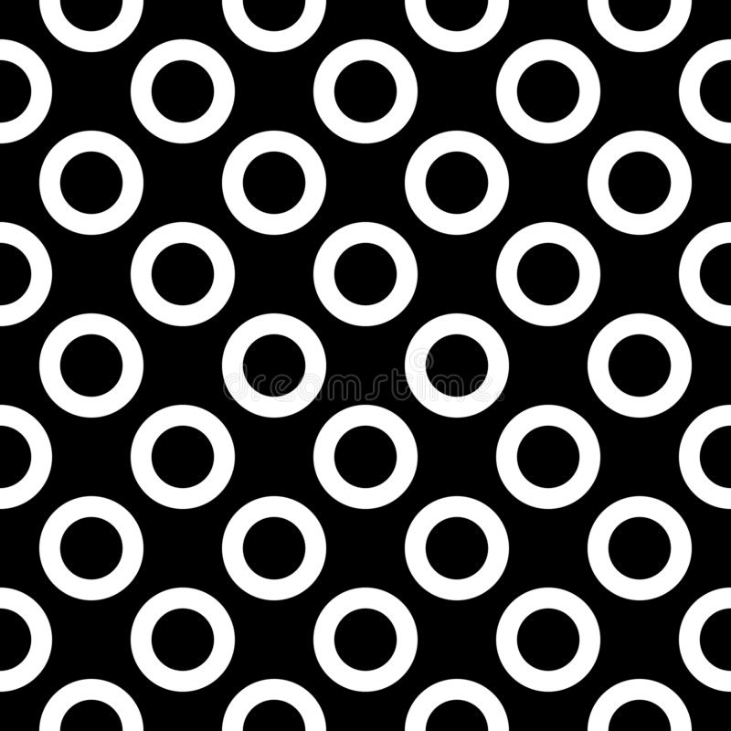 big black dots polka seamless white иллюстрация вектора