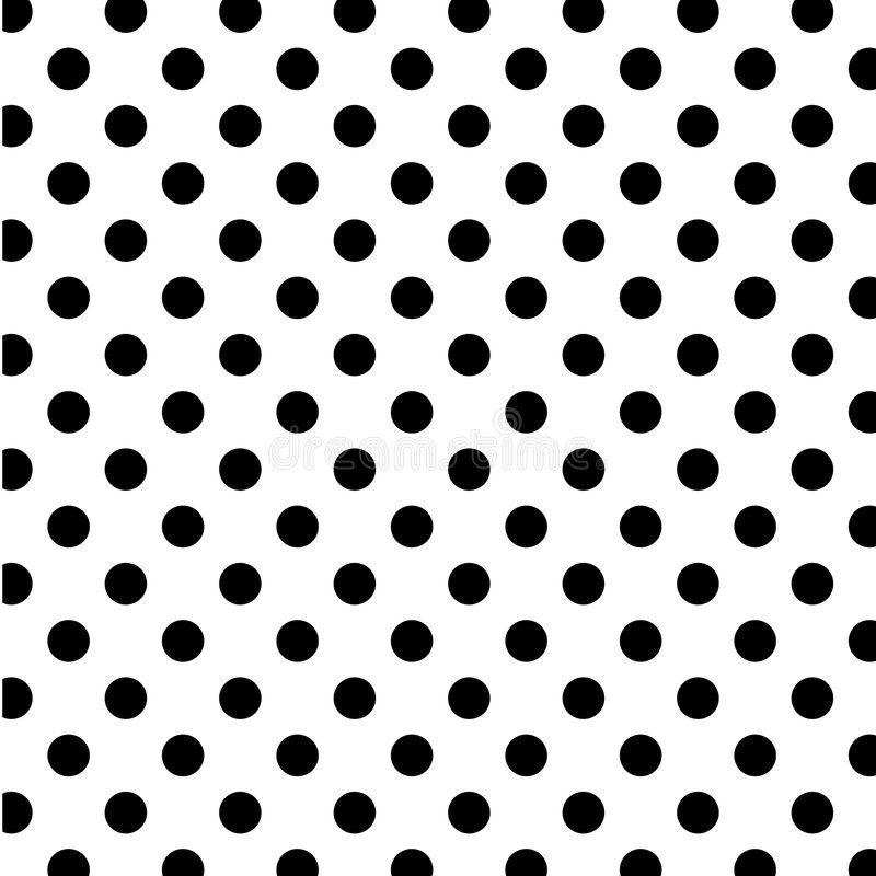 big black dots polka seamless white 皇族释放例证