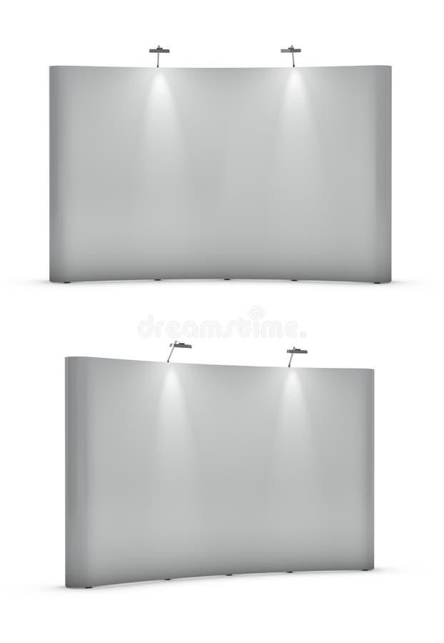 Download Big Blank Exhibition Stands Stock Illustration - Illustration of lighting, shape: 18018199