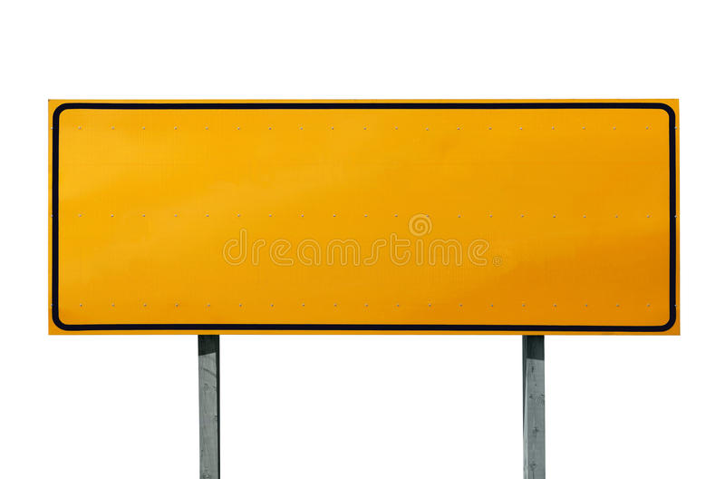 Download Big Blank Highway Sign stock photo. Image of hazard, message - 16679982