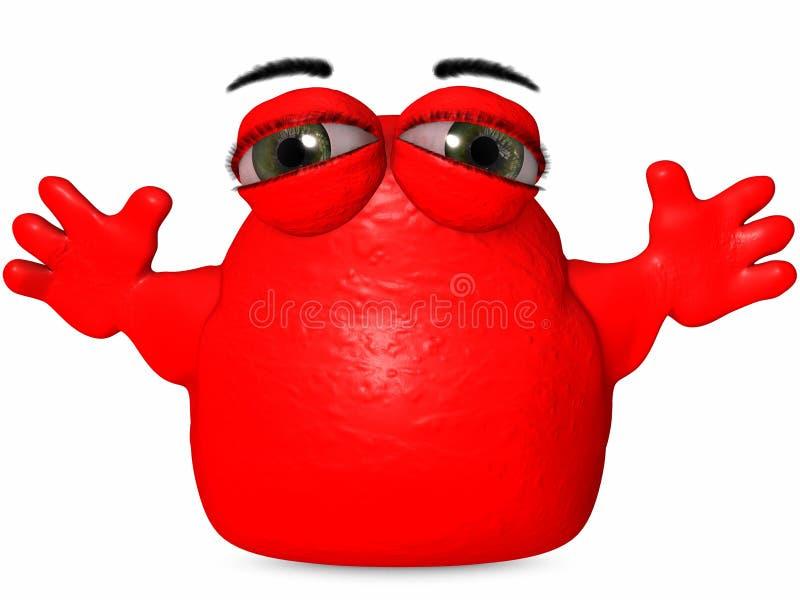 Download The Big Blob-Toon Figure stock illustration. Image of anime - 7255467