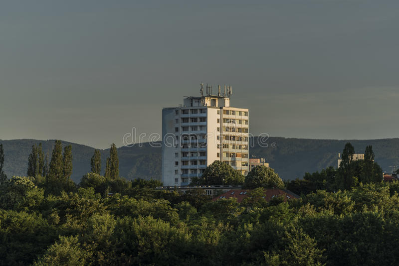 Big block of flats in Usti nad Labem royalty free stock photo