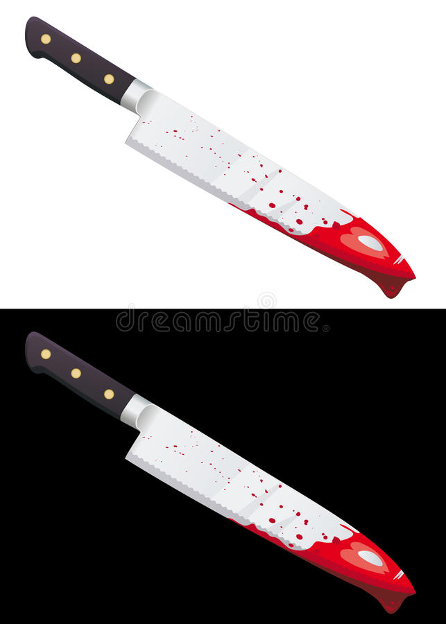 Download Big Bloody Knife Isolated Royalty Free Stock Image - Image: 15534686