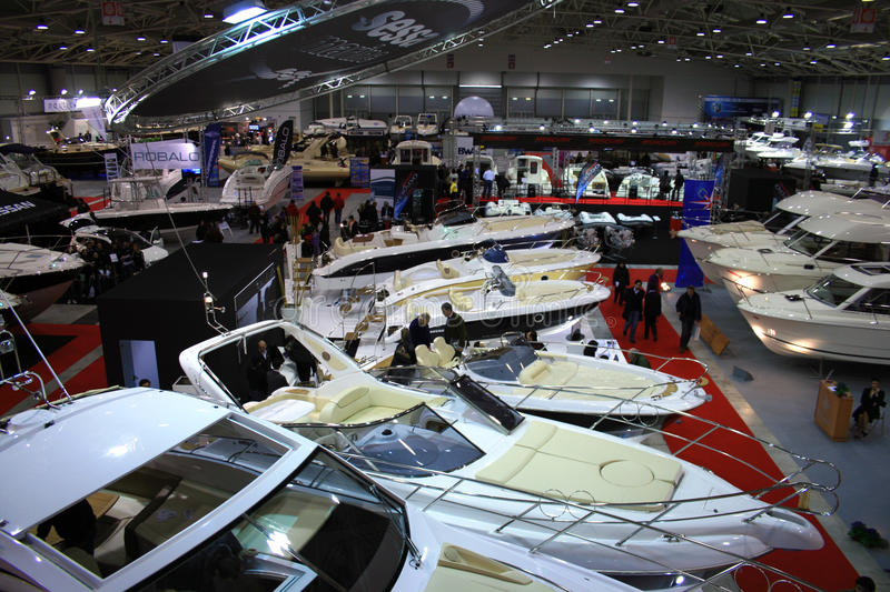 Big Blu. A lot of motorboat in the Big Blu 2010 royalty free stock images