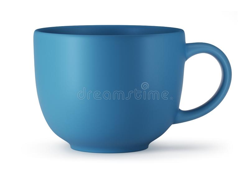 Big Blue Cup Isolated on White Background royalty free stock image