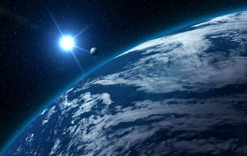 Download Big blue earth stock illustration. Image of globe, planet - 6621553