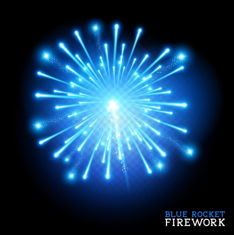 Big Blue Firework. Vector illustration stock illustration