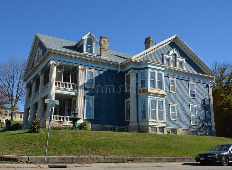 Big Blue-Huis stock foto's