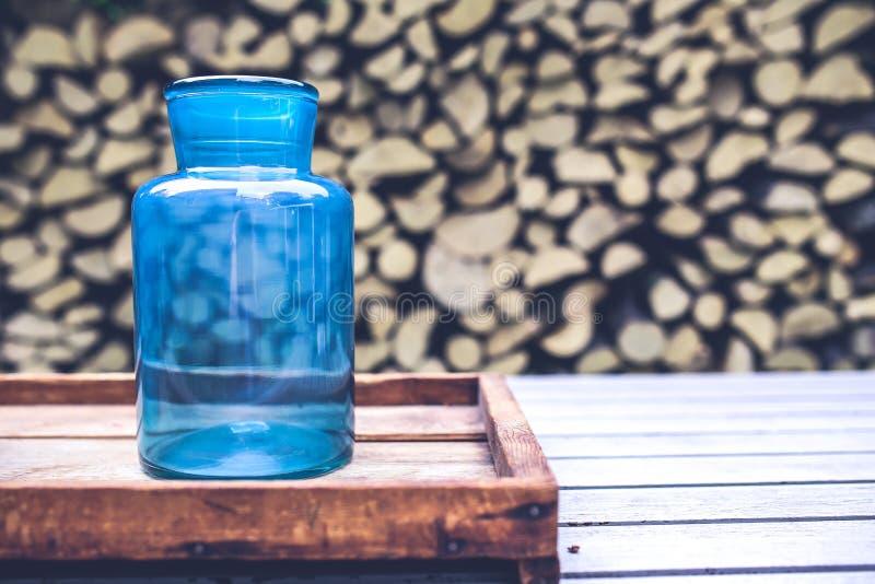 Big blue jar stock images