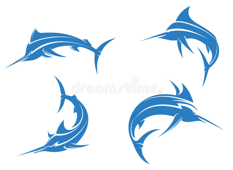 Download Big blue marlins stock vector. Illustration of cheerful - 32003019