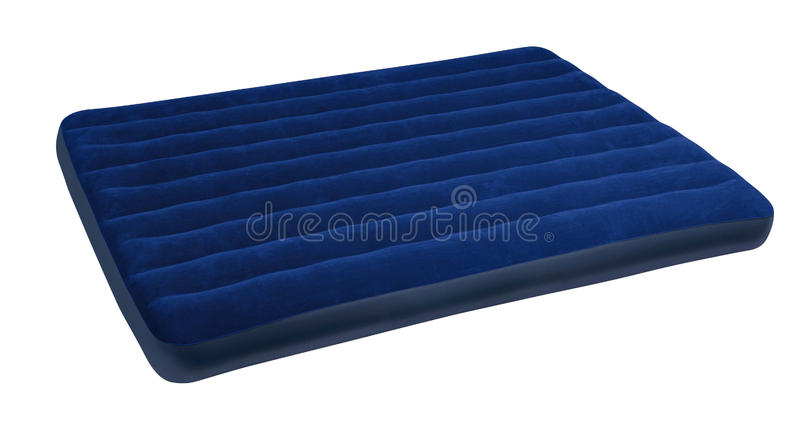 Big blue mattress royalty free stock images