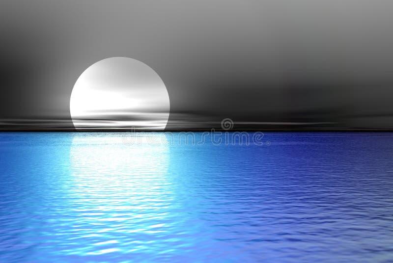 big blue moon ilustracji