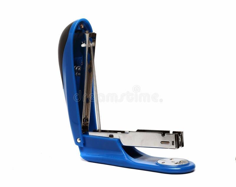 Big blue office stapler stock image