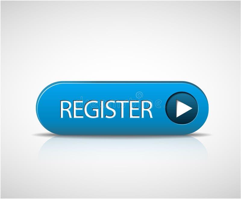 Big blue register button royalty free illustration