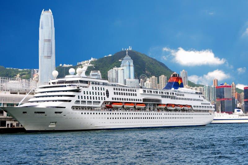 Big boat in Hong Kong stock photos