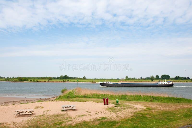 Big Boat At The River Stock Image