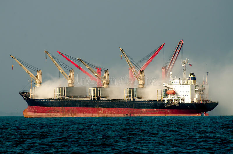 Download Big boat on the sea stock photo. Image of construction - 31975842