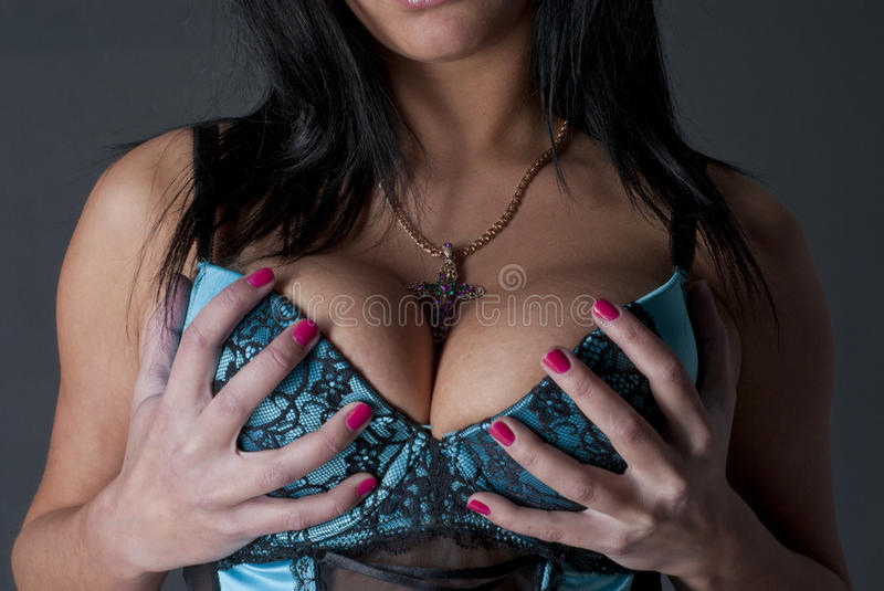 Download Big boobs and a cross stock photo. Image of pretty, portrait - 18165590