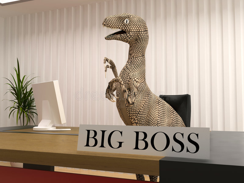 The big boss vector illustration