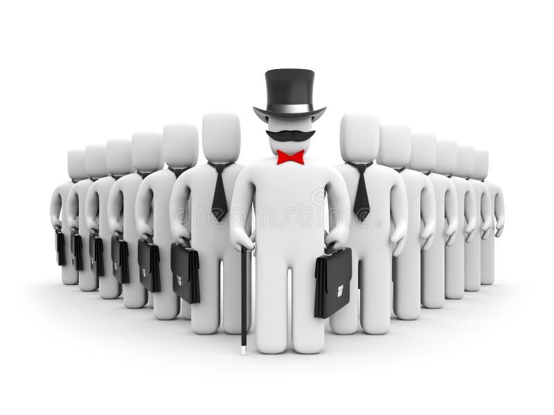 The big boss. Corporation concept