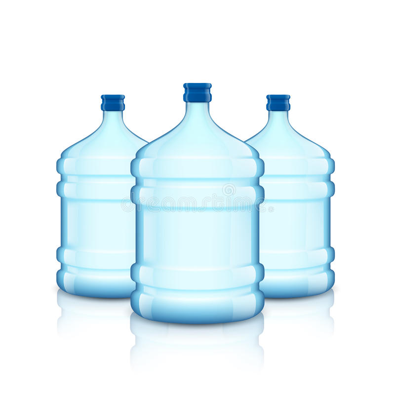 Big bottle with clean water. Plastic container for the cooler. royalty free illustration
