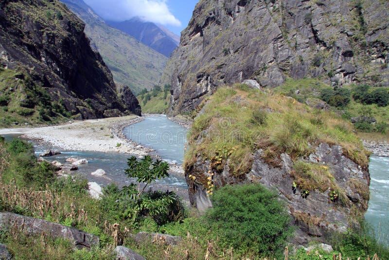 Download Big boulder stock image. Image of autumn, nepal, mountain - 36021163