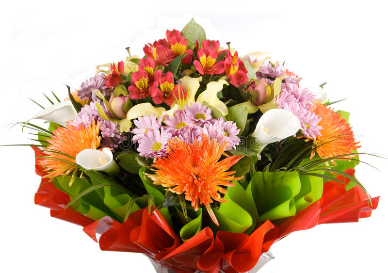 Download Big bouquet of flowers stock image. Image of orange, romance - 24157135