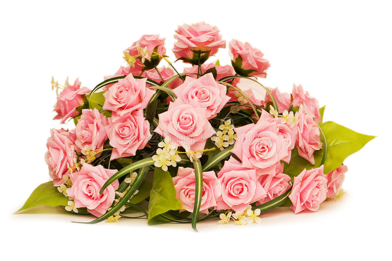 Download Big Bouquet Of Roses Isolated On White Royalty Free Stock Photo - Image: 5911325