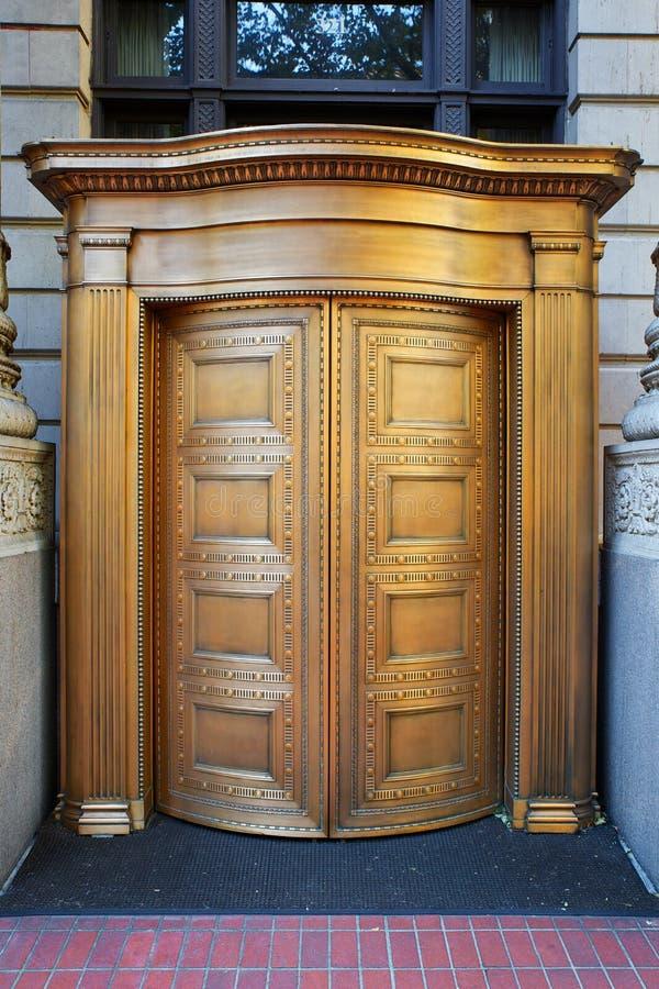 Download Big Brass Revolving Bank Doors Stock Image - Image: 27414121