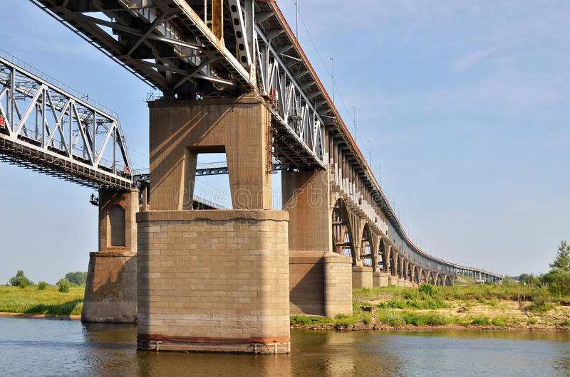 Download A Big Bridge Through The River Stock Image - Image: 23566367