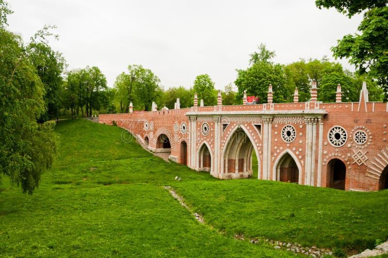 The big bridge in Tsaritsyno, Moscow royalty free stock photography