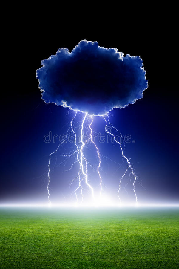 Lightning from cloud