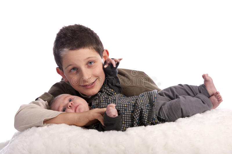Download Big Brother With Baby Sister Stock Image - Image: 22613121