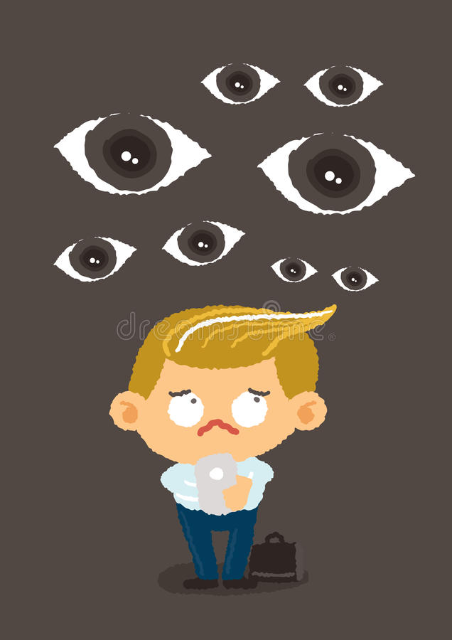 Big brother concept, internet security and safety vector illustration