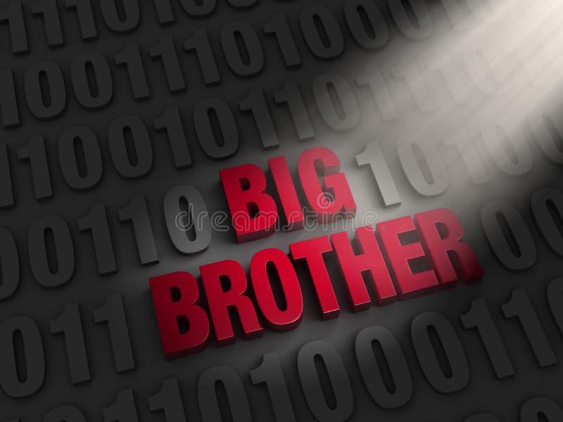 Big Brother i datorkoden vektor illustrationer