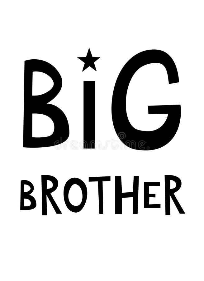 Big Brother Inspirational Quote royalty illustrazione gratis
