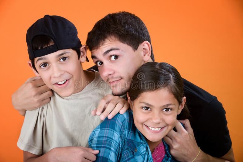 Big Brother and Siblings stock photo