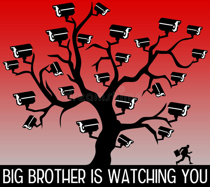 Big Brother vous observant illustration libre de droits