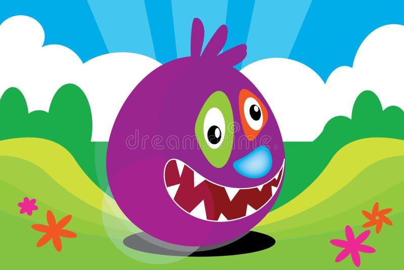 Big Bruce the Bounce Monster. A big bouncing monster named Bruce royalty free illustration