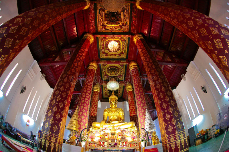 Ancient Buddhist Temple. Big Buddha in Wat Na Phra Men, Ayutthaya historical park, Thailand. UNESCO World Heritage Site. Wat Na Phra Men is one of the very few stock images
