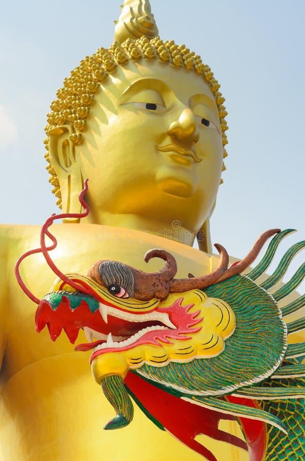 Big Buddha Angthong, Thailand. Landmark big statue Buddha in temple ruins of wat muong , Angthong Thailand stock images
