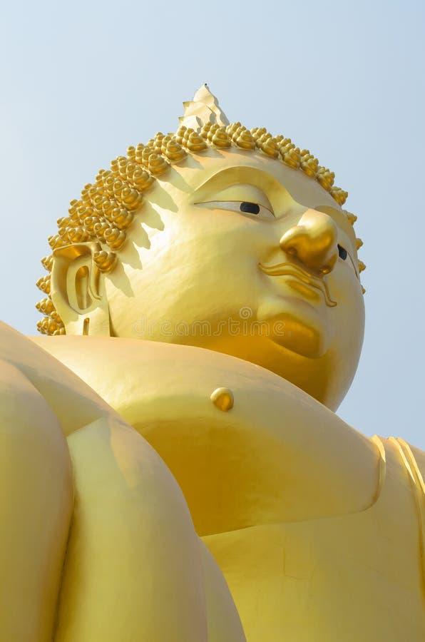 Big Buddha Angthong, Thailand. Landmark big statue Buddha in temple ruins of wat muong , Angthong Thailand stock photography