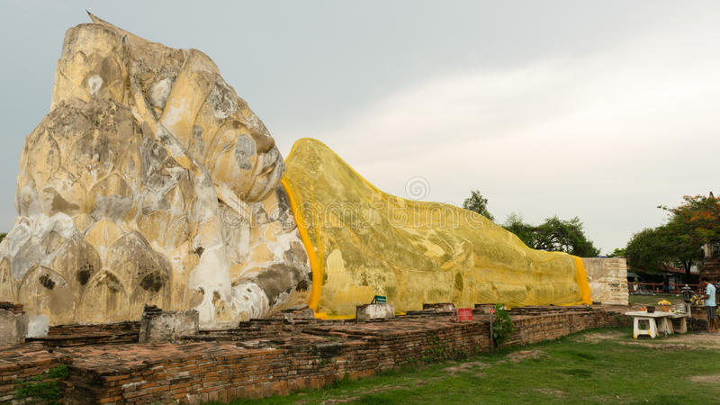 A big Buddha at ayutthaya royalty free stock photography